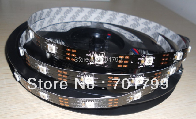 BLACK PCB 5m WS2811 LED digital strip,30leds/m with 30pcs WS2811 built-in the 5050 smd rgb led chip;non-waterproof,DC5V input