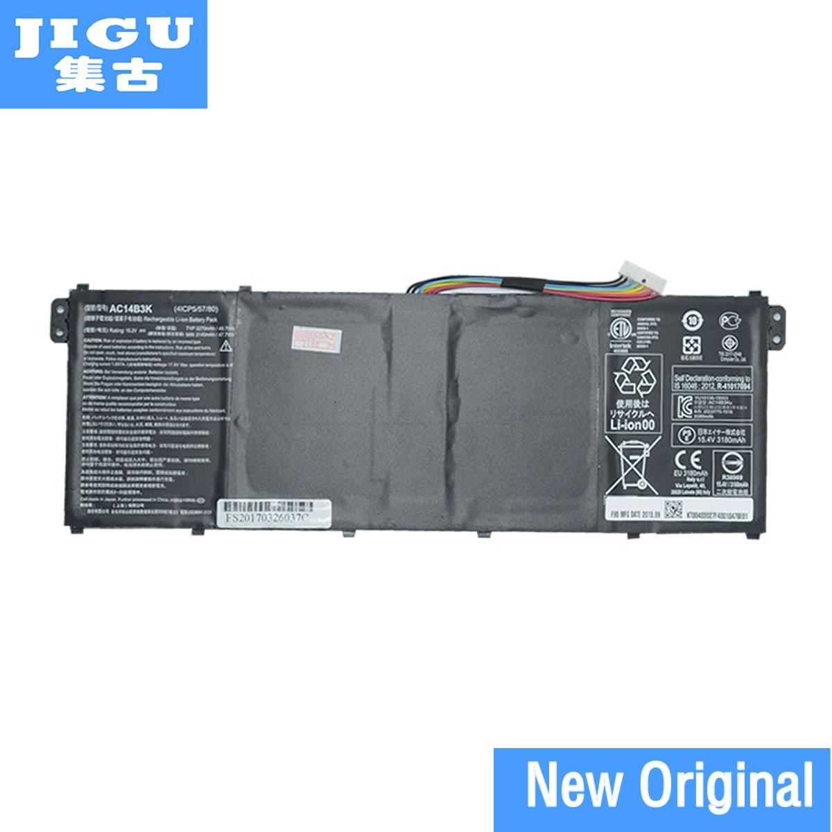 JIGU batería Original del ordenador portátil AC14B3K para ACER A32Aspire R 11 R3-131T R5-571T 571TG S14 Chromebook CB3-511 531 Swift 3 3 s F314-51