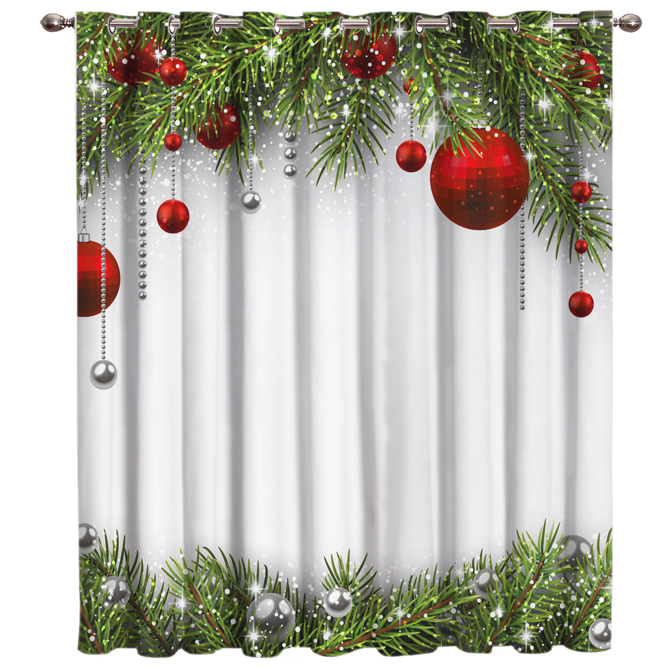 US $13.36 16% OFF|Snowing Winter Christmas Holiday Room Curtains Large  Window Living Room Curtains Kitchen Indoor Fabric Window Treatment Ideas-in  ...