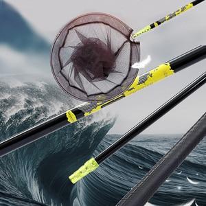 Image 2 - Carbon Fishing net  2.1 m 3 m Telescoping Foldable Landing Net Pole casting net work trap fishing nets