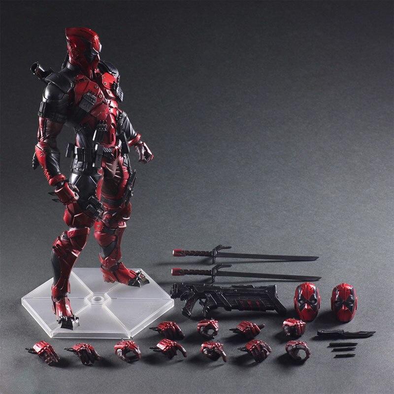 Play Arts 26cm Deadpool Original PVC Action Figure Model Toys Figure Wolverine X Men X MEN