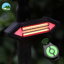 цена на Remote Control turn signal led bicycle rear light USB Rechargeable Smart Cycling Accessories Wireless bike tail light