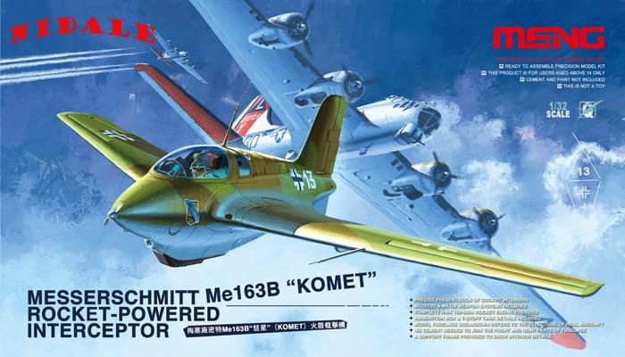 NIDAL Model 1 32 QS 001 MESSERSCHMITT Me 163B KOMET ROCKET POWERED INTERCEPTOR Plastic military static