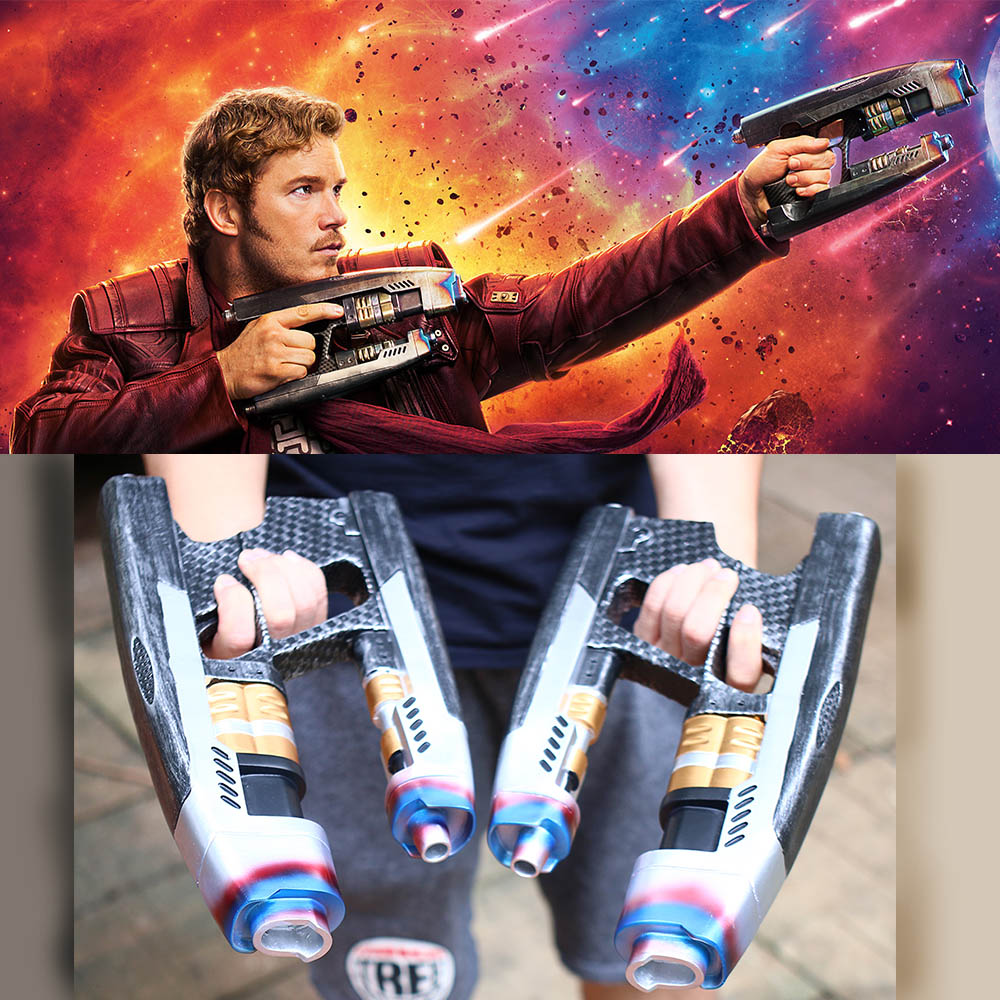 1:1 Avengers Infinity War Star Lord Gun Weapon Halloween props Adult A Pair Cool