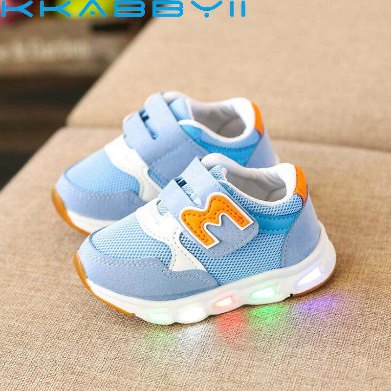 Children Shoes With Light Glowing Sneakers Kids Led Shoes With Light Up LED Slipper Boys Girls Baby Shoes Luminous Sneakers
