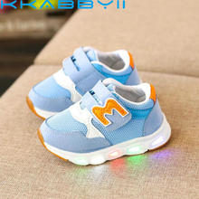 Children Shoes with Light Glowing Sneakers Kids Led Shoes wi
