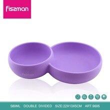 FISSMAN Kids Children Tableware Feeding Divided Bowl 580ML 100% Food Grade Silicone Bowls