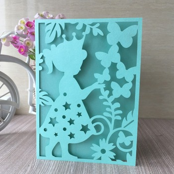 35pcs Laser Cut Pearl Paper Colorful Birthday Invitation Party Decorations Greeting Card Gift Card