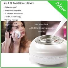 Home Use Beauty Spa Anti-aging Skin Whitening Moisturizing 5 in 1 RF Photon Ion Ultrasonic Vibration Facial Beauty Massager