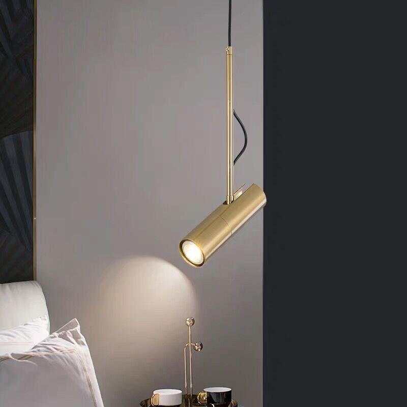 modern design pendant light LED Spot Light Fixture Nordic luminaire white black bedside lamp hanging spotlight