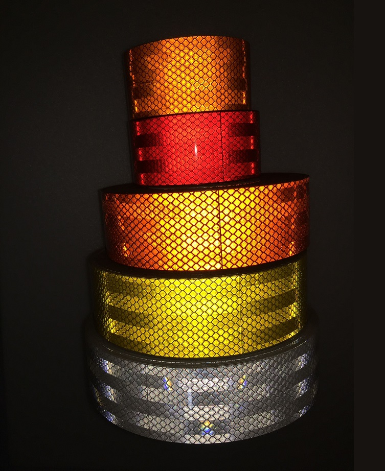 5CM Self-Adhesive PET Super Reflective Warning Safety Tape Truck Road Traffic Construction Site Floor Wall Warning Strip
