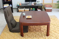 Freeshipping KT 80 3 Fuji Japanese Kotatsu Table With Round Corner Walnut Color 80 80cm