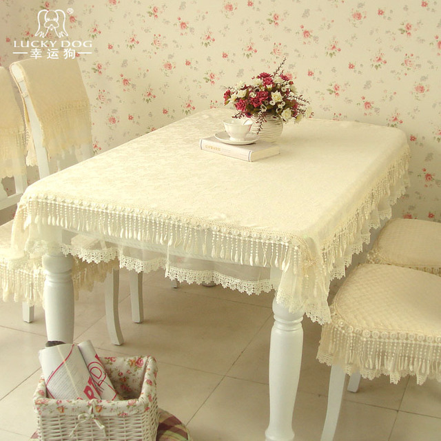 Quality hydrotropic laciness lace tablecloth table cloth chair covers seat calendula long table cloth