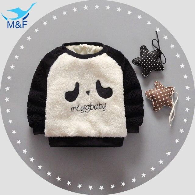 M&F 2016 Autumn and winter Children Kids Sweatshirt Girls Cartoon Dog/Pig T-shirt Baby Warm Thick Cotton-Padded Baby Clothes