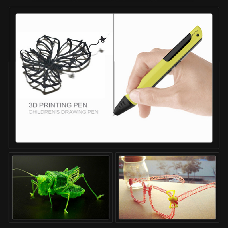 Newest 3 d USB cable Inteligente 3d printing pen DE LCD + free109 m abs/pla fialment for drawing  christmas gifts fast epacket dewang newest 3d pen wiht usb cable low temperature free 9m abs pla child gift for imagination