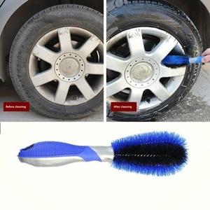 Image 3 - Car Tyre Hub Cleaning Brush Vehicle Motorcycle Wheel Tire Rim Scrub Brush Washing Dust Cleaning Tool for Car Wheel