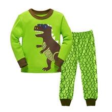 Купить с кэшбэком 2019 spring pijamas autumn full sleeve cotton boys sleepwear kids plane styling pyjama children baby girls pajamas