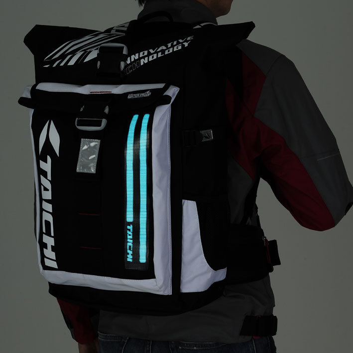 NEW RS TAICHI WP EL BACK PACK WATER PROOF BAG BACKPACK Daily Travel Bag with LED LIGHT