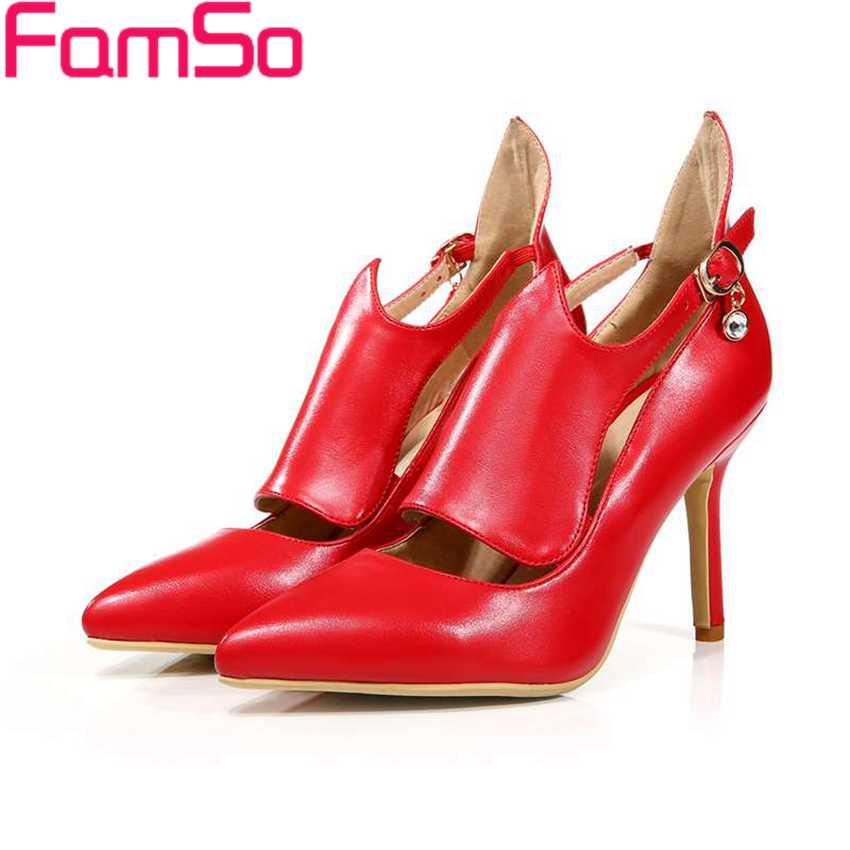 Plus Size34 42 2016 Sexy font b Women b font Gladiator pumps black Spring high heels