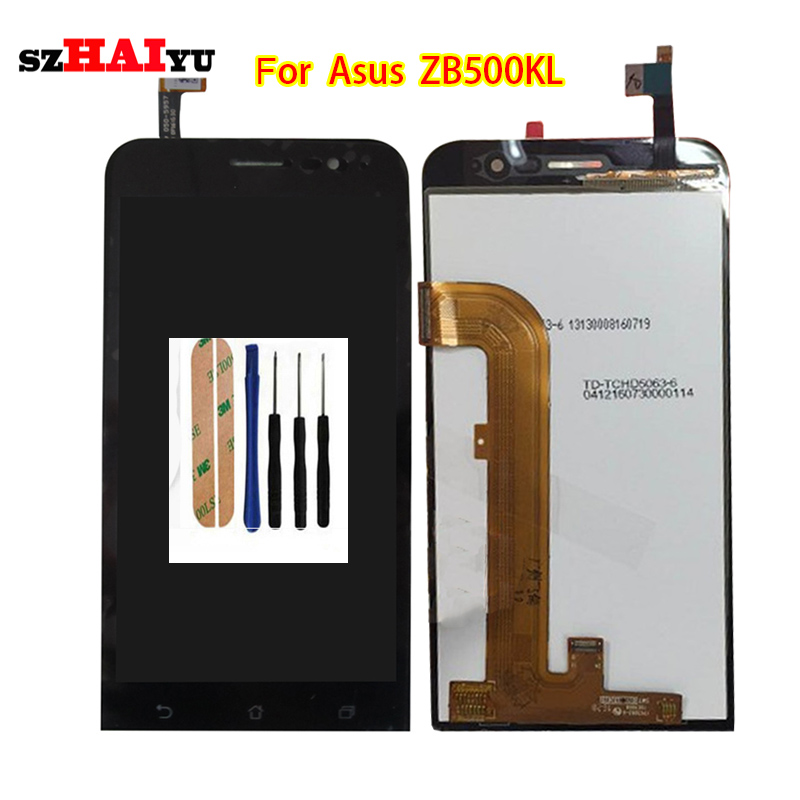 ФОТО High Quality Black LCD for Asus Zenfone Go ZB500KL  LCD Display+Touch Screen Digitizer Assembly +Tools