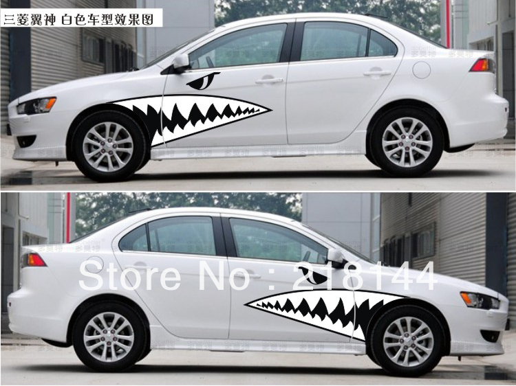 2013 full body car decal sticker big shark sticker for all cars smart mini cool stickers decoration free shipping on aliexpress com alibaba group