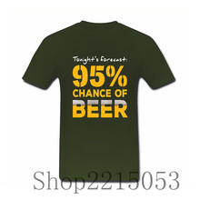 """95% Chance of Beer"" T-Shirt / 14 Colors"