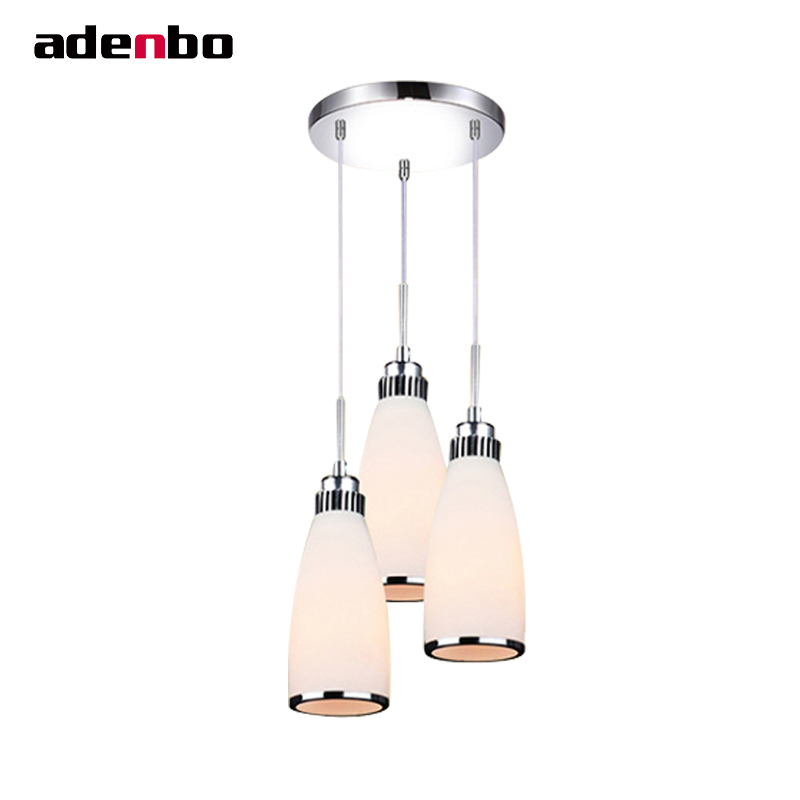 Modern Simple LED Glass Pendant Lights Cord Pendant Hanging Light Fixture Dining Room And Bar Counter Lamp