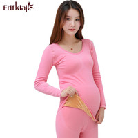 Fdfklak High Quality New Maternity Clothes Pajamas for Pregnant Women Thick Velvet Warm Underwear Set Pregnancy Pijamas Sets