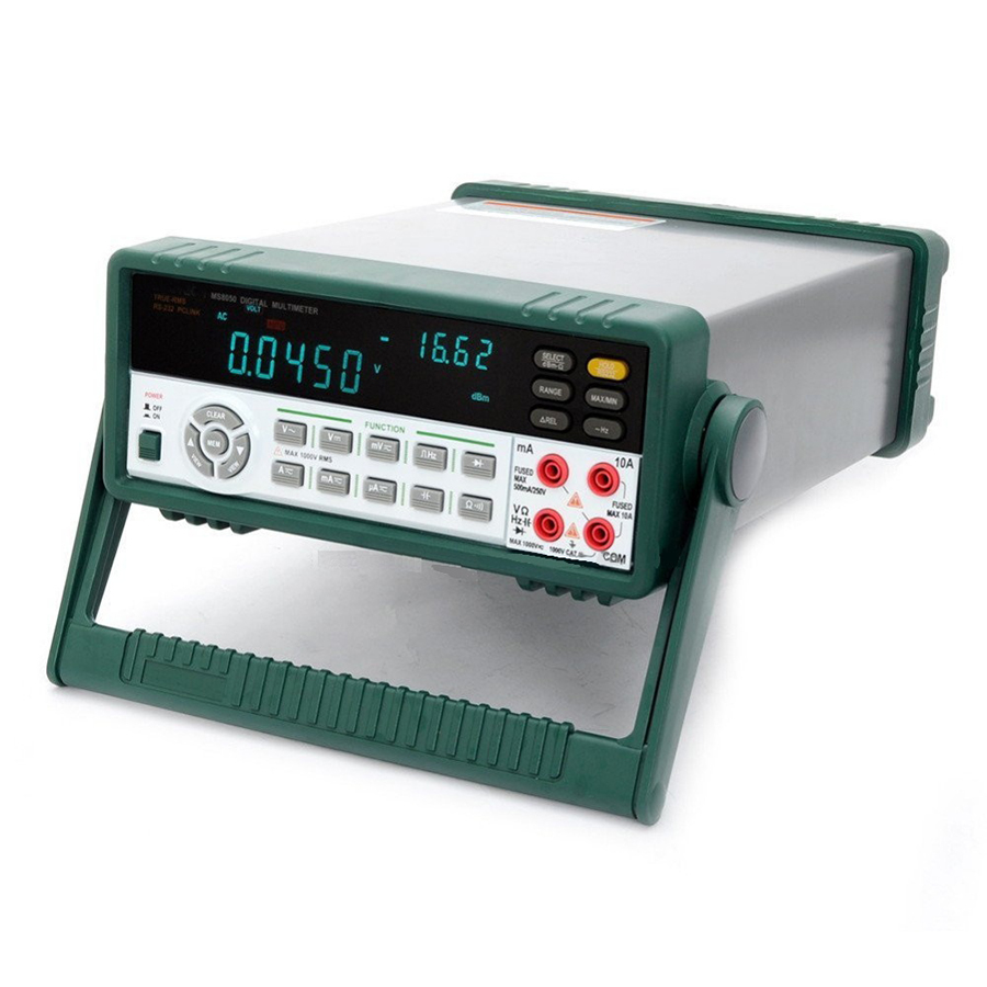 <font><b>MS8050</b></font> Professional Desktop Multimetro Digital Multimeter Auto Range Bench Top Multimeter High Accuracy True RMS RS232C image