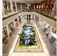 Ванная комната водонепроницаемый обои этаж 3d обои 3D пейзаж живопись на открытом воздухе прикреплены 3d обои водонепроницаемый