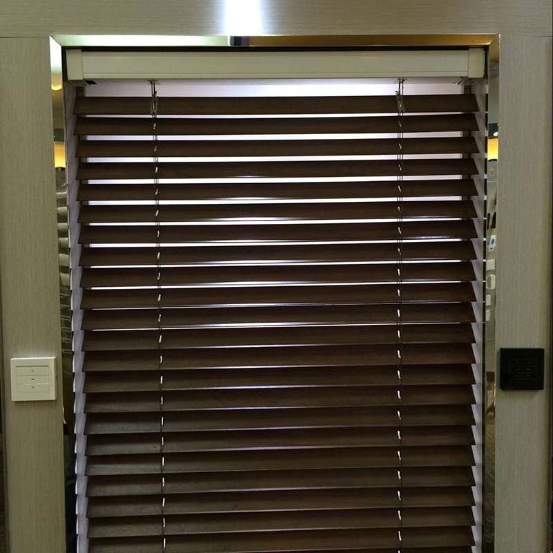 Motorized Wooden Venetian Blinds, Size Customized,free Shipping,electric  Wooden Blinds,wifi Control Acceptable In Blinds, Shades U0026 Shutters From  Home ...