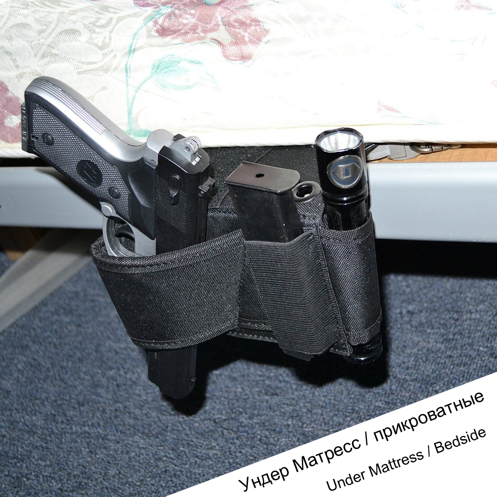 Under Mattress Bedside Gun Holster Car Seat Pistol Handgun Holsters Couch Chair Table for Beretta PX4 RH USP LCP LC9 PF9 Small image
