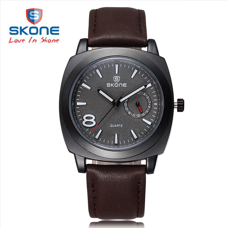 SKONE Genuine Calendar Women Fashion Watches Top Brand Luxury Leather Watch Ladies Quartz Analog relojes mujer Relogio Feminino
