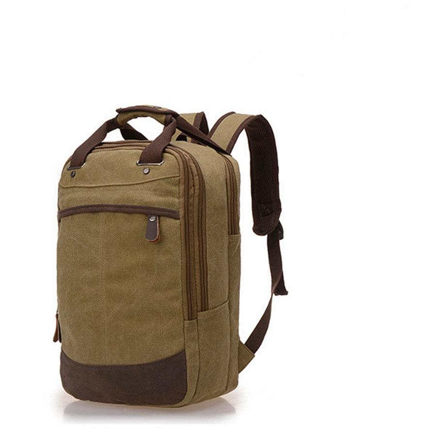 Wearable canvas soft side shoulders backpack shoulder pads zipper large  capacity multi storey travel backpack computer bag-in Backpacks from  Luggage   Bags ... 8d1639319af01
