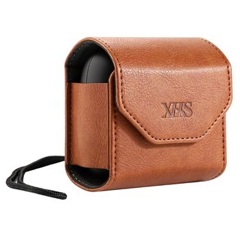Portable Hanging Neck Leather Bag Protective Case Storage Bag Box For Beats Powerbeats Pro Earphone Accessories