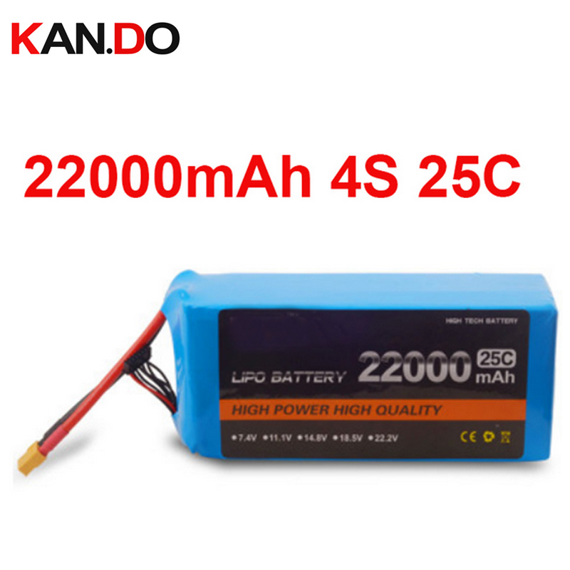 22000 mah drone battery FPV battery 14.8V 4S 25c air plane power battery high quality lithium battery power air model high rate polymer lithium battery 20mah diy plane model parts