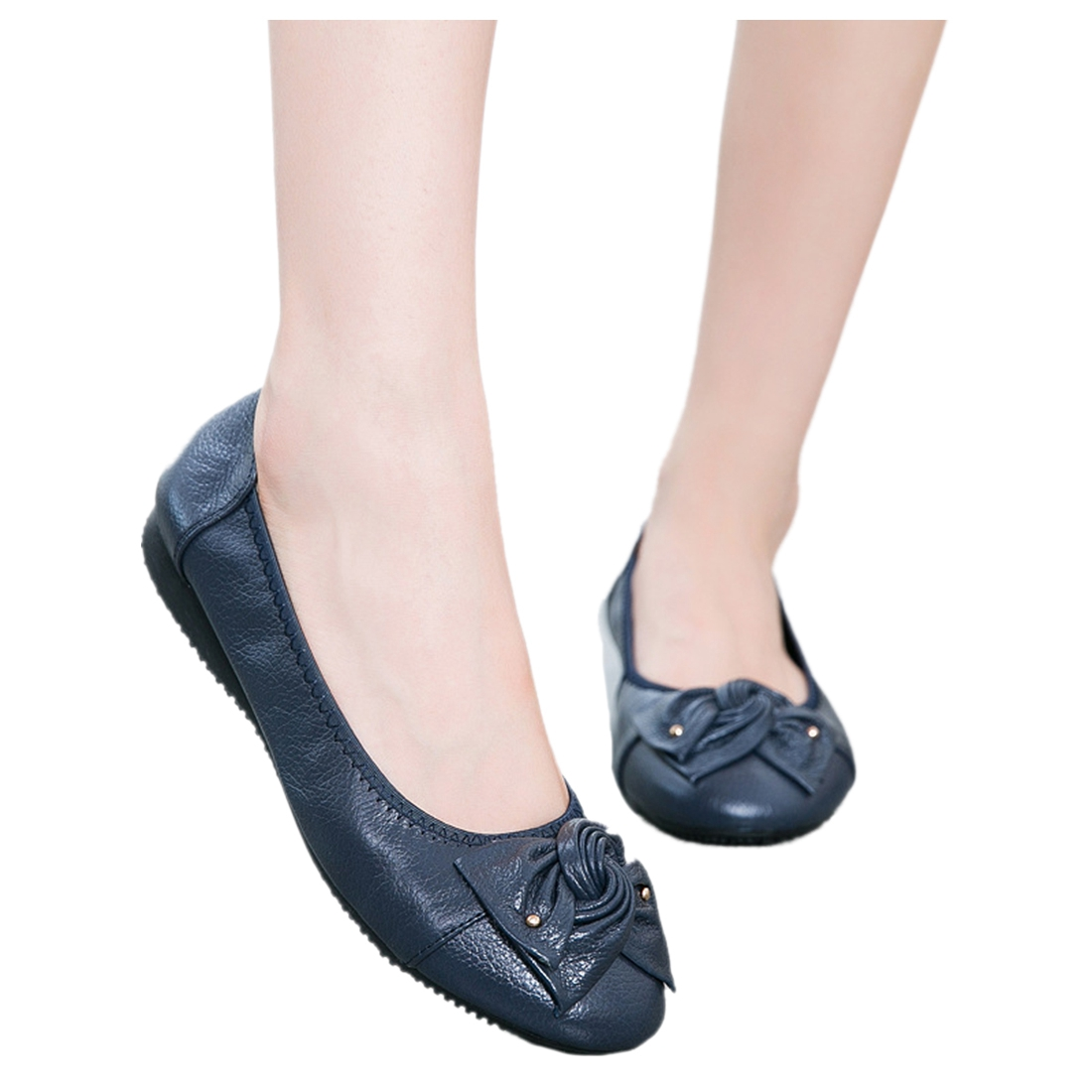 ASDS Handmade Soft Leather Ballet Women Female Casual Shoes Women Flats Shoes Slip On Car-styling cresfimix zapatos women cute flat shoes lady spring and summer pu leather flats female casual soft comfortable slip on shoes