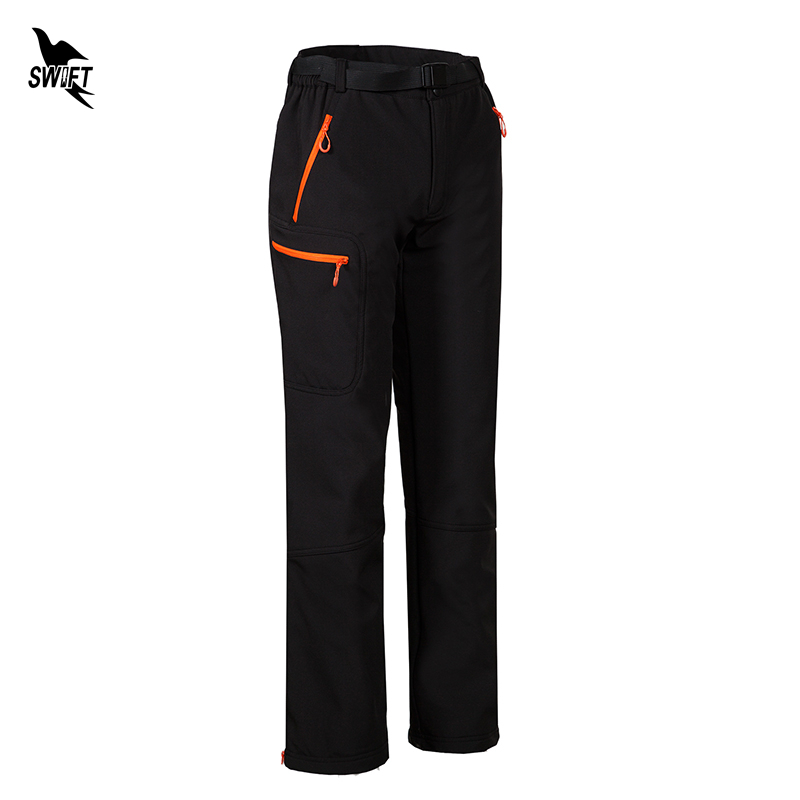 Camping Hiking Softshell Pants Women Waterproof Winter Thermal Fleece Trousers Outdoor Sport Trekking Mountain Clothing Gore-Tex