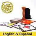 Inglês Espanhol velocidade selva jogo de tabuleiro, bom pacote de cartão de jogo com o amigo jogo de festa jogo de mesa local