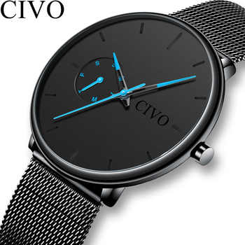 CIVO Fashion Casual Mens Watches Waterproof Analogue Sports Wristwatches Men Quartz Watches For Men Gift Clock Relogio Masculino - DISCOUNT ITEM  92 OFF Watches