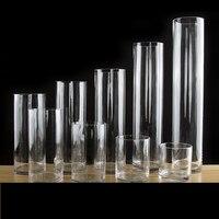 Simplicity Transparent Clear Tabletop Tall Glass Vase Bottle Terrarium Hydroponic Container Pot Flower Home Wedding Decor