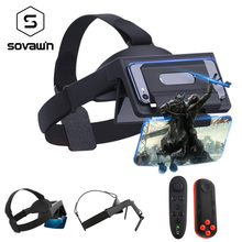 Sovawin 3D Smartphone AR Augmented Reality glasses Mobile Box Headset Virtual Reality VR helmet Film AR Video Game with remote