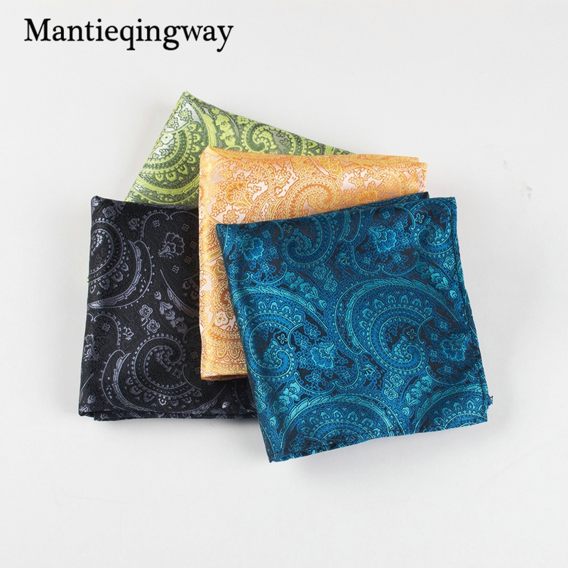 Mantieqingway High Quality Polyester Men Suit Pocket Square Causal Handkerchief Wedding Hanky Business Accessorie Towel For Men