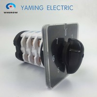Manufacturer 0 7 position switch Rotary switch 50A 4 Pole Universal changeover cam switch silver contact YMZ12 50/4