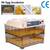 Ship From Germany 96 EGGS EGG INCUBATOR PLASTIC MATERIAL EASY VIEWING TRANSPARENT DESIGN WHOLESALE