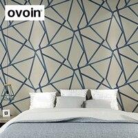 Modern Geometric Wallpaper Lines Designer Wall Paper Rolls For Wall Blue Beige For Home Decor Living