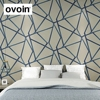 Modern Geometric Wallpaper Lines Designer Wall Paper Rolls For Wall Blue Beige For Home Decor Living