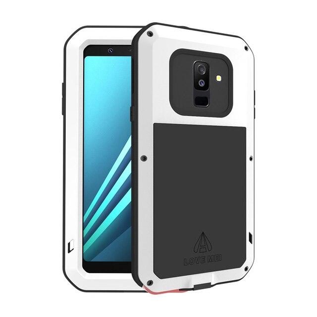 5e9db2d3393 Para Samsung Galaxy A6 2018 amor MEI armadura funda impermeable para Samsung  Galaxy A6 Plus Metal