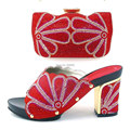 popular Italian Shoes With Matching Bag set good quality Italy style high heels with crystal for lady! GTH16-59