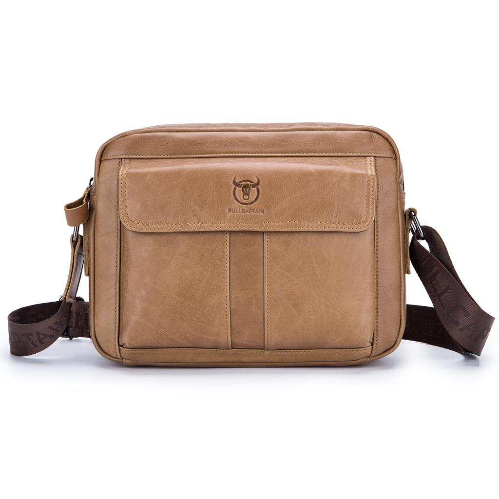 Real Leather Man Bag Mens Shoulder Bag Cross Body Messenger Bag Travel Holiday